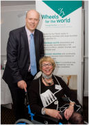 Chris Grayling MP and Wheels for the World CEO Jacky Oliver