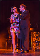 Vegas Showgirl and Wayne Kennedy as Dean Martin