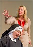 Claire Malcomson as Dr Martha Livingtone and Jessica Holloway as Sister Agnes