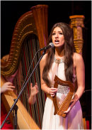 Faryl Smith with the International Harp Ensemble
