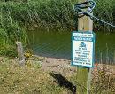 Danger sign at Slapton Ley National Nature Reserve, 2006 - toxic algae