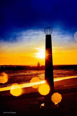 Burryport monument flares