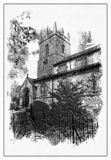 St. James The Greater Church - pen & ink