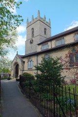 Barlborough Church entrance & tower, Derbyshire