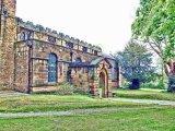 Front facade of Eckington Church, Derbyshire