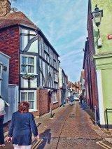View along The Butchery, Sandwich, Kent