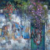 """Alfama Wall, Lisbon"" Pastel 10.5x11 inches"
