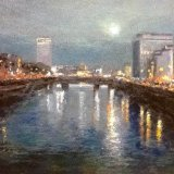 """Winter Moon over Dublin Town"""