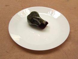 13. Broken Glazed Earthenware with Flocking