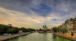 The River Seine, Notre Dame, Paris