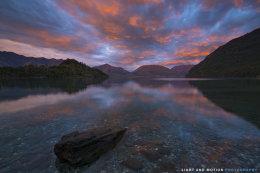 Flames for Sunrise at Lake Wakatipu