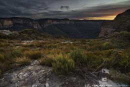 Sunset over Grose Valley