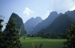 Mountains and paddy fields - Laos