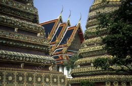 Stupas and roofs in the Royal Temple, Bangkok
