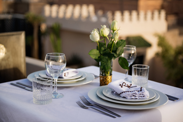 Riad Kheirredine terrace dinning