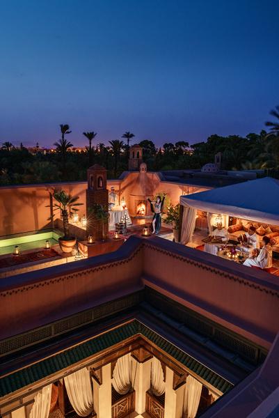 Royal Mansour roof terrace