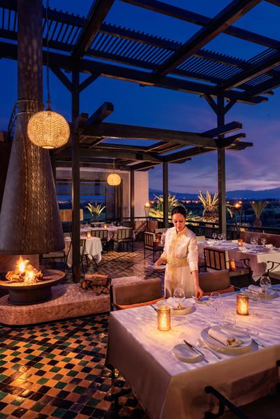 Royal Palm Entrance Restaurant Terrace night