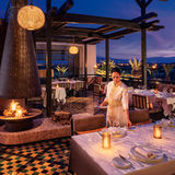Royal Palm Entrance Restaurant Terrace night
