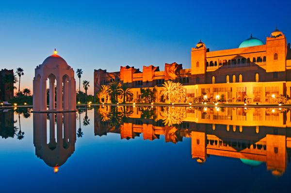 Taj Hotel night