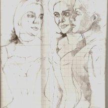Life study for The Dice Players Sarah Bernhardt