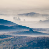 Autumn mist rising over Rannoch Moor 2