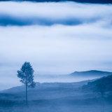 Autumn mist rising over Rannoch Moor 1