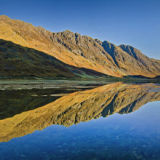 Aonach Eagach and Loch Achtriochtan Panorama Autumn