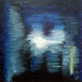 Nocturne: Drama (cobalt), 2014, oil stick and acrylic on canvas board, 20cm x 20cm