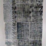 Stronghold, 2017, multi-part monoprint on paper, 168cm H x 89.1cm W