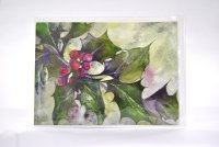 Christmas Holly greetings card