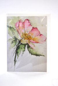 Dog Rose greetings card