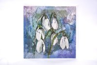 Snowdrops greetings card (square)