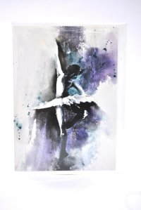 Ballerina greetings card