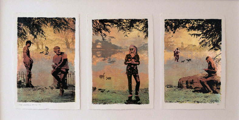 THE LAWRENCE FAMILY - Triptych by Alison Lumb