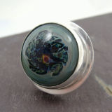 Mint-Sage Glass & Silver Ring