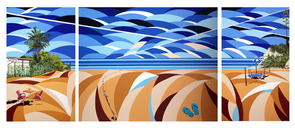 'Beach Life' Triptych SOLD