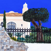 'The House on the Hill' close-up of the painting