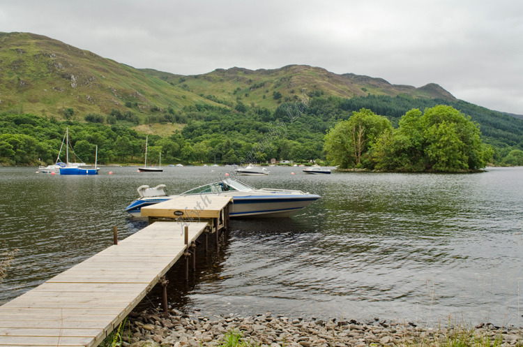 AANWW Island on Loch Earn with boats 3790
