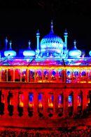 Brighton Pavilion at night