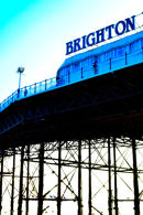 Brighton sign from beach