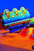 Colourful ride car at night