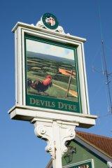 Devil's Dyke pub sign