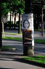 poster on tree, Vienna