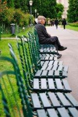 gentleman on bench, Vienna