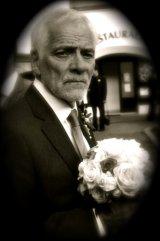 Dad & bouquet
