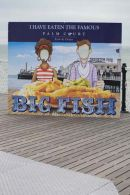 'Big Fish' sign for Fish & Chip Cafe