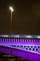 Streetlamp on Purple Bridge