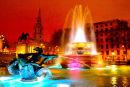 Colourful Trafalgar Square