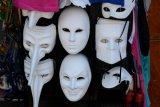 Venetian white masks