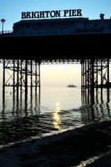 West Pier under Brighton Pier